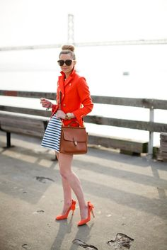 Color Inspiration | Stripes & Orangy-Red | Atlantic-Pacific