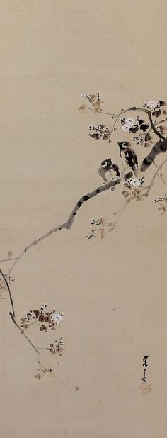 Japanese hanging scroll painting.
