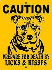 "PITBULL DOG SIGN,PIT BULL DOG SIGN, 9""x12"" ALUMINUM SIGN,Guard Dog,CPBLK"
