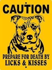 "PITBULL DOG SIGN,PIT BULL DOG SIGN, 9""x12"" ALUMINUM SIGN,Guard Dog,CPBLK"