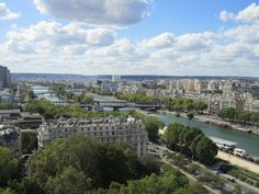 View of the river from the Eiffel Tower