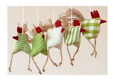 5 aufgeregte Hühnchen Huhn von uggla deko mit eigensinn auf DaWanda.com