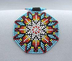 Seme+di+perline+Mandala.+Collana+di+geometria+di+HANWImedicineArt
