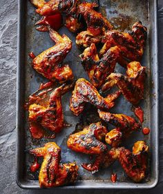 Get the recipe for Cherry-Bourbon Chicken Wings. Bourbon Chicken Wings Recipe, Best Chicken Wing Recipe, Chicken Wing Recipes, Teriyaki Chicken Wings, Cooking Chicken Wings, Barbecue Chicken, Bbq, Spicy Grilled Chicken, Grilled Meat
