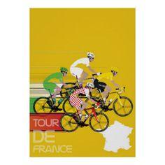 Poster Tour de Francia #ciclismo #zazzleespaña