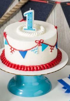 Nautical smash cake, first birthday party, easy cake ideas