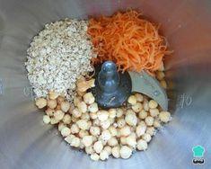 Receta de Hamburguesa de garbanzos y avena - Paso 1 Healthy Menu, Healthy Cooking, Healthy Snacks, Raw Food Recipes, Vegetarian Recipes, Healthy Recipes, Cooking Recipes, Comidas Light, Weird Food