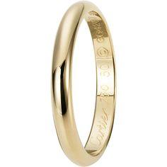 Cartier(カルティエ)の結婚指輪、ウェディング リングのご紹介です。ふたりだけの愛の誓いを包み込むカルティエのウェディングリング。ソフトなカーブのイエローゴールド リング。すっきりとしたラインはふたりを結ぶ愛を表現。【ゼクシィ】なら、Cartier(カルティエ)のマリッジリングも多数掲載中。