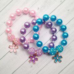 6 - Fairy Flower Charm Bracelet Fairy Birthday party favor Fairy Slumber Party Garden Tea Party Bracelet Party Favor Flower Bracelets
