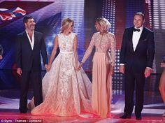 Fantastic four: The judges Simon Cowell, Amanda Holden, Alesha Dixon and David Walliams pu...
