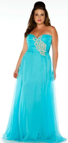 Strapless Ruched Sweetheart Gown from Cassandra Stone II #neon #Prom