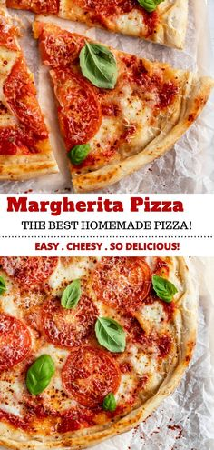 This heavenly Margherita Pizza Recipe includes everything you need to know about how to make the BEST homemade pizza! So easy and SO delicious! Egg Recipes, Pizza Recipes, Easy Dinner Recipes, Crockpot Recipes, Easy Meals, Flatbread Recipes, Chicken Recipes, Making Homemade Pizza, The Fresh