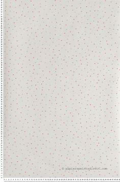 Pois Queen Lulu Castagnette - papier peint Lutèce