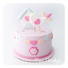 1st birthday bird cake