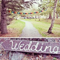 Wedding Sign at the entrance to introduce the theme