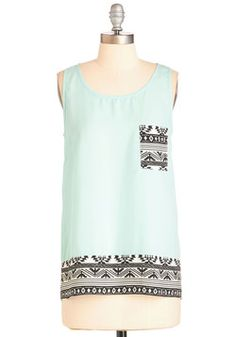 World of Whimsy Top. Looking to fill your life with flirtatious flair? #mint #modcloth