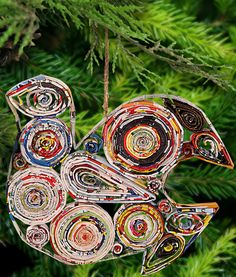 Recycled Magazine Peace Dove Ornament at The Animal Rescue Site  Made by Viet Namese to fund their orphanage.