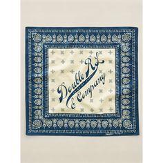 RRL bandana | Rrl Paisley Bandanna in Blue for Men (Indigo/Cream)