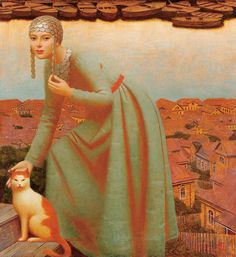 """Volga"" Andrey Remnev, 2007 Oil, mixed media on canvas."
