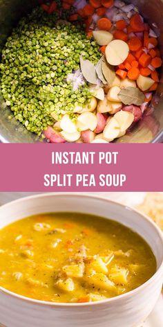 Pot Split Pea Soup - Instant Pot Split Pea Soup is a true 10 minute set. , Instant Pot Split Pea Soup - Instant Pot Split Pea Soup is a true 10 minute set. , Instant Pot Split Pea Soup - Instant Pot Split Pea Soup is a true 10 minute set. Pea Recipes, Easy Soup Recipes, Easy Healthy Recipes, Easy Veggie Soup, Split Pea Soup Recipe, Split Pea Soup Pressure Cooker Recipe, Soup Split Pea, Vegan Recipes Pressure Cooker, Split Peas