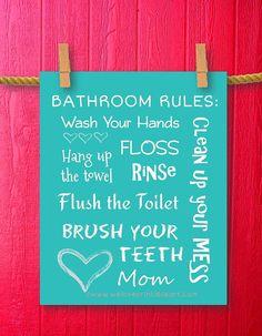 Childrens Bathroom Art Kids Bathroom Decor by WeLovePrintableArt, $5.00