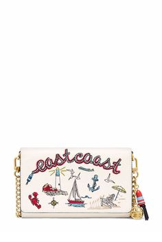 Tory Burch Embroidered Chain Wallet