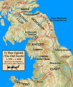 Yr Hen Ogledd (The Old North) c. 550 – c. 650