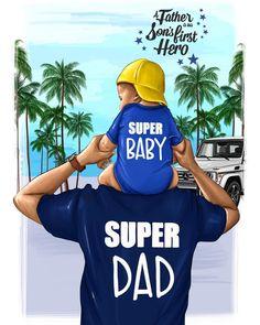 Super Dad & Super Sun💙 Иллюстрация разработана для @makefotocase 👌🏼💚 Inspired by @alongcamehilton 🌸 #nastyakosyanovaart #настявтворчестве…