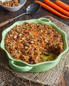 Carrot Cake Baked Oatmeal Heavenly Carrot Cake Baked Oatmeal Vegan, gluten-free, oil-free, soy-freeCake (disambiguation) A cake is a sweet, baked form of food. Cake may also refer to: . Vegan Desserts, Vegan Recipes, Vegan Food, Cookbook Recipes, Cooking Recipes, Cooking Time, Cake Recipes, Carrot Cake Oatmeal, Clean Eating