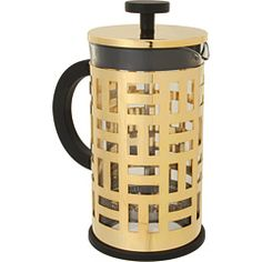 coffee press that works when your shelves have no doors http://www.zappos.com/bodum-eileen-8-cup-french-press-coffee-maker-gold?zlfid=2