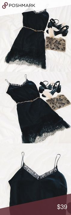 For Love & lemons style black lace slip Midi dress Brand new with tags. No trades. Brand is Lucy Paris. For Love and Lemons Dresses Midi