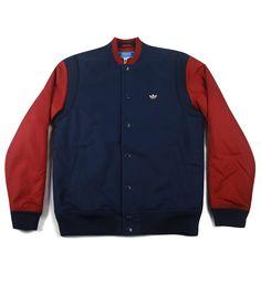 Adidas Originals Wool Varsity Jacket Indigo / Red from Adidas Apparel, on 5pointz
