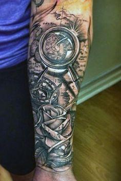 tatuaże męskie 3d na przedramieniu
