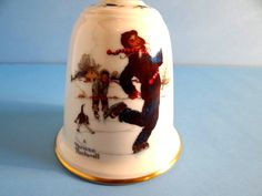 Vintage Gorham 1978 Norman Rockwell Christmas Collectible Bell, Holiday Décor, by TimelessTreasuresbyM on Etsy