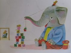 Polite Elephant by Richard Scarry VINTAGE Childrens Book