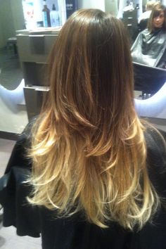 Brunette to blonde ombre!