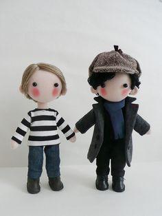 Reserved for Letts Sherlock&John Dolls by pepeluiv on Etsy