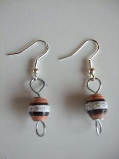 Handmade and Handcrafted by Mimi Paper Bead Earrings on Silver Plated French Hooks by MIMI PINTO, http://www.amazon.co.uk/dp/B00A8FIA8Q/ref=cm_sw_r_pi_dp_YjBXqb086TFC7