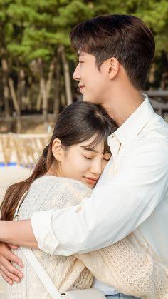 Korean Drama Movies, Korean Actors, Movie Couples, Cute Couples, Nam Joo Hyuk Wallpaper, Nam Joohyuk, Sung Kyung, Weightlifting Fairy Kim Bok Joo, Pose Reference Photo