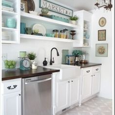 Kitchen Photos Metal Floating Shelf Over Sink Design, Pictures, Remodel, Decor and Ideas - page 30