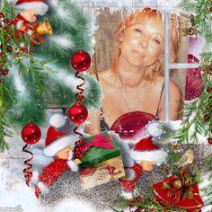 My Christmas Girl 2 Christmas Wreaths, Christmas Ornaments, Create, Holiday Decor, Home Decor, Christmas Swags, Xmas Ornaments, Decoration Home, Holiday Burlap Wreath