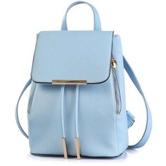 Cover Metal Solid Color Satchel Blue ($30) ❤ liked on Polyvore featuring bags, handbag satchel, satchel hand bags, day pack backpack, backpack bags and satchel bags