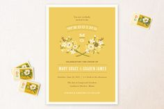 Harvest Moon Print-It-Yourself Wedding Invitations by Jennifer Wick at minted.com