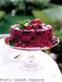 Summer Pudding with Rum Whipped Cream (Ina Garten) a mixture of berries and brioche :)
