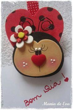 Looney Tunes Cartoons, San Antonio, Foam Crafts, Ladybug, Bee, Clay, Valentines, Handmade, Ladybug Decor