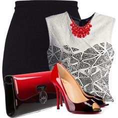 Untitled #6799 by barbarapoole on Polyvore featuring Christian Louboutin and Alexa Starr