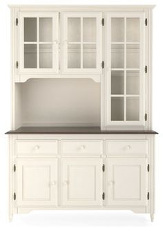 Ronan Antique White Large Hutch  Dinnerware Buffet And Shelves Delectable Antique Dining Room Hutch 2018