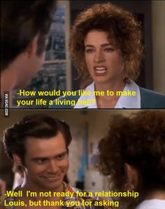 Jim Carrey being smart. One of my all time favorite lines.