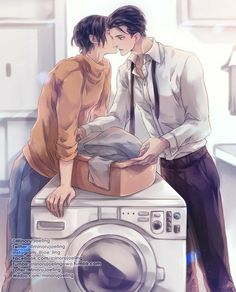 Cute Gay Couples, Anime Couples, Anime Guys, Magic Anime, The Grandmaster, Shounen Ai, Fanarts Anime, Boy Art, Fujoshi