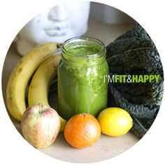 Happy Raw Green Smoothie - Fit and Happy Daily